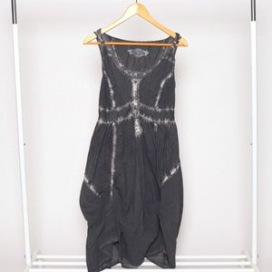 Sacred Sprit Grey Waterfall Tie Dye Cotton Dress 6